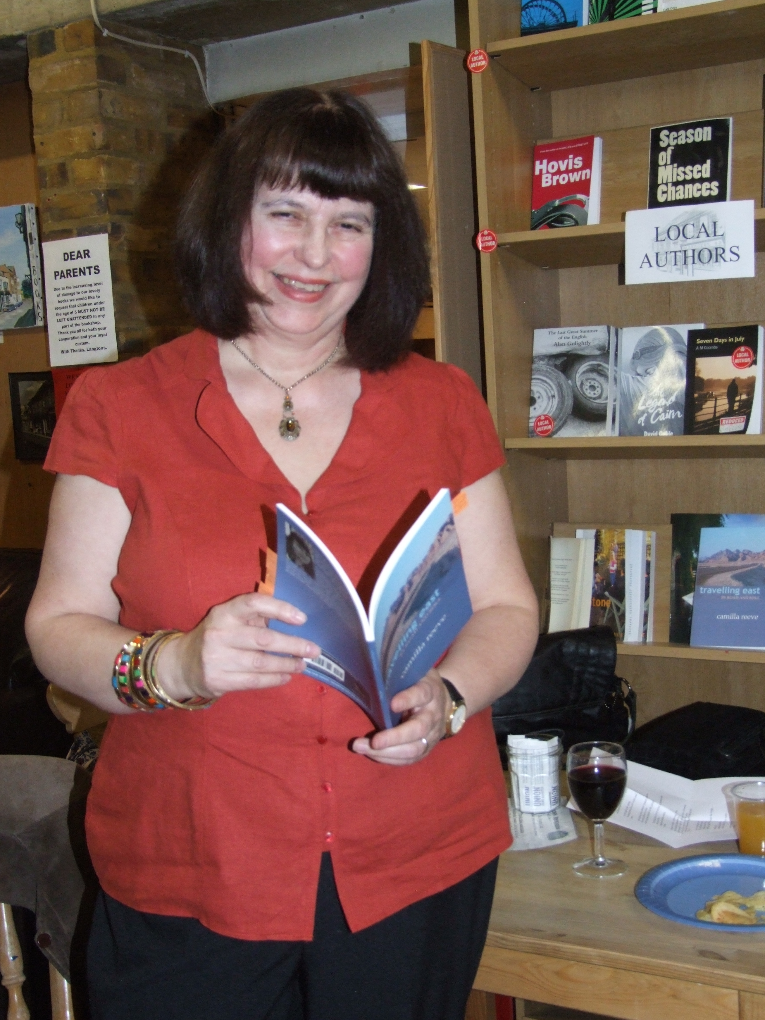 Camilla Reeve at Langtons Bookstore in Twickenham, 2015