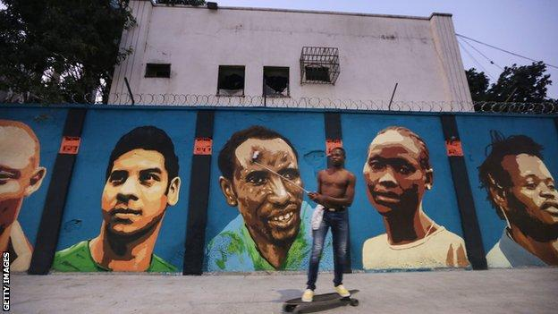 Olympic Refugee Team Mural in Rio